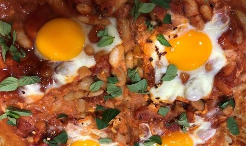 Delicious 'Baked' Beans and Eggs